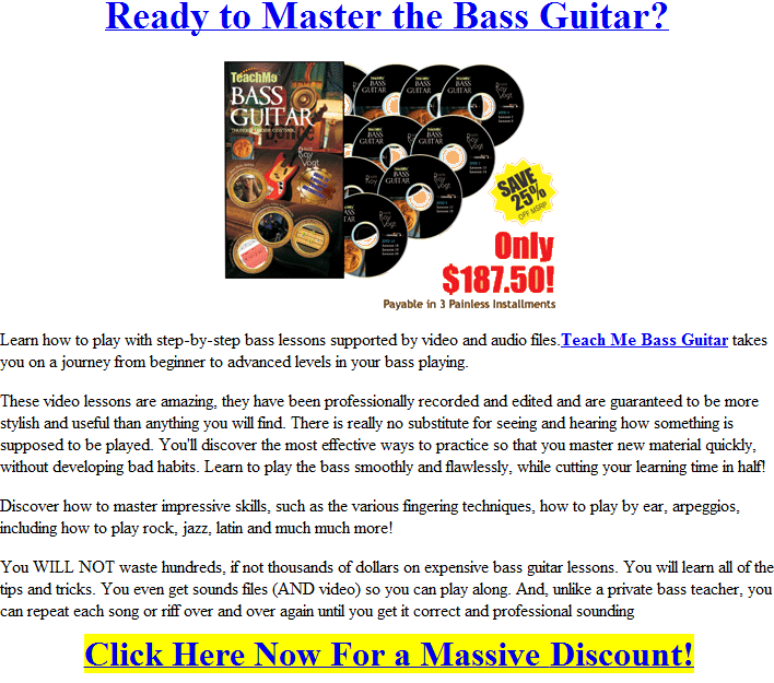 how to play bass guitar free online bass instructions. Black Bedroom Furniture Sets. Home Design Ideas